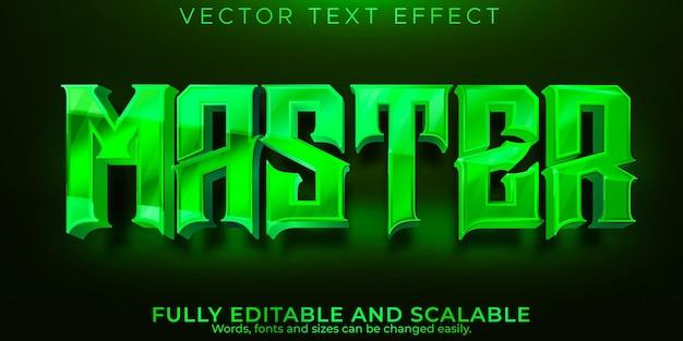 Мастер текстовый эффект редактируемый стиль текста япония и сенсей Premium векторы