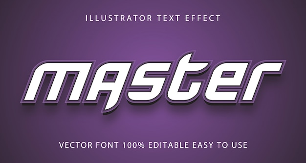Master  text effect fully editable
