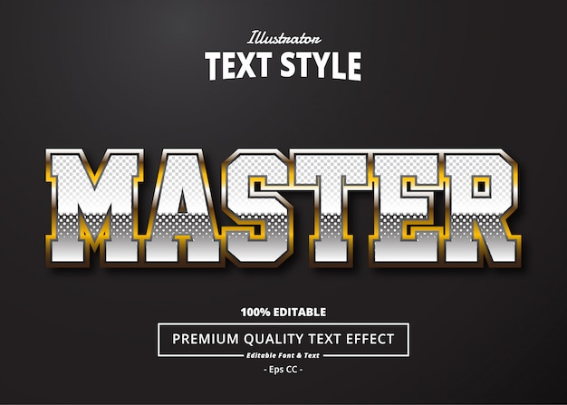 Master text effect