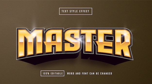 Master yellow text style effect