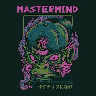 Mastermind обезьяна иллюстрация