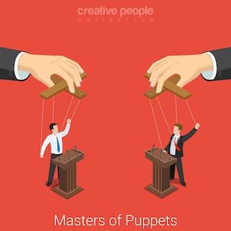 マスターズオブパペットビジネス政治選挙コンセプト