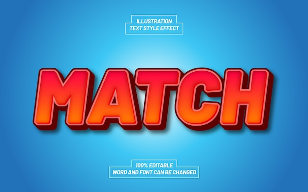 Match bold text style effect