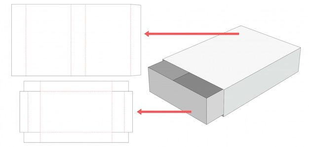 Match box die cut template