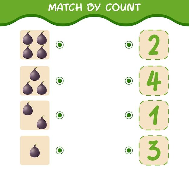 Матч по количеству мультяшных фиг. матч и подсчет игры. развивающая игра для дошкольников и малышей