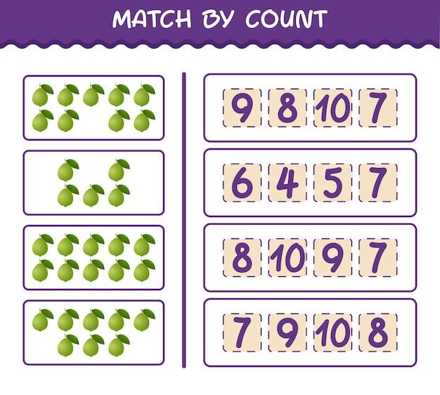Матч по количеству мультфильмов гуавы. матч и подсчет игры. развивающая игра для дошкольников и малышей