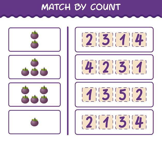 Матч по количеству мультяшных мангустинов. матч и подсчет игры. развивающая игра для дошкольников и малышей