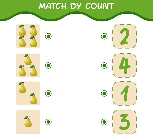 Матч по подсчету мультяшных груш игра со счетом обучающая игра для детей дошкольного возраста и малышей