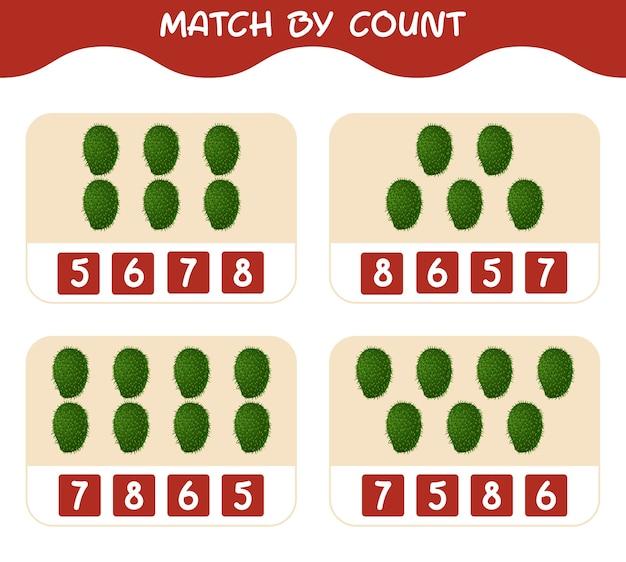 漫画のサワーソップの数で一致する一致して数えるゲーム就学前の子供と幼児のための教育ゲーム