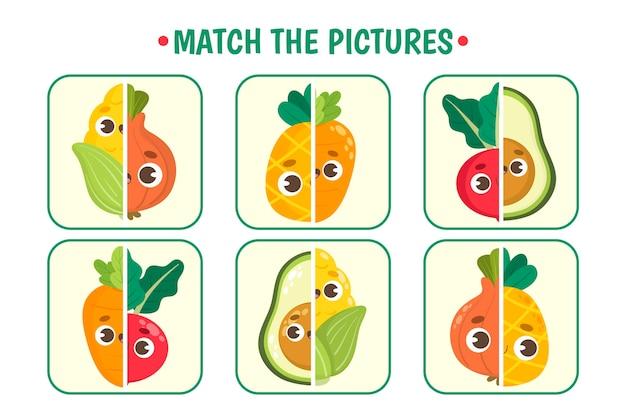 Gioco di corrispondenza per l'illustrazione dei bambini