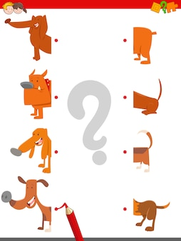 Match the halves of dogs
