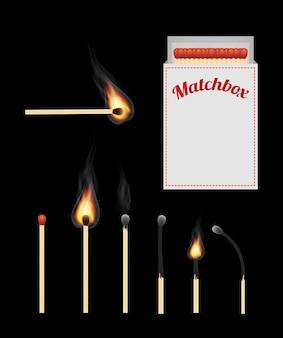 A match and matchbox