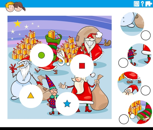 クリスマスのキャラクターとピースタスクを一致させる