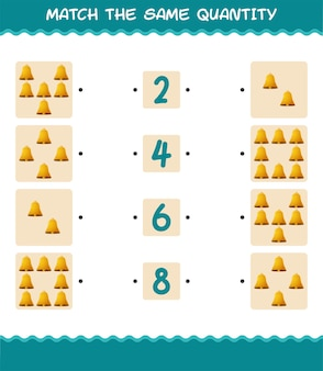 Match the same quantity of bell. counting game. educational game for pre shool years kids and toddlers