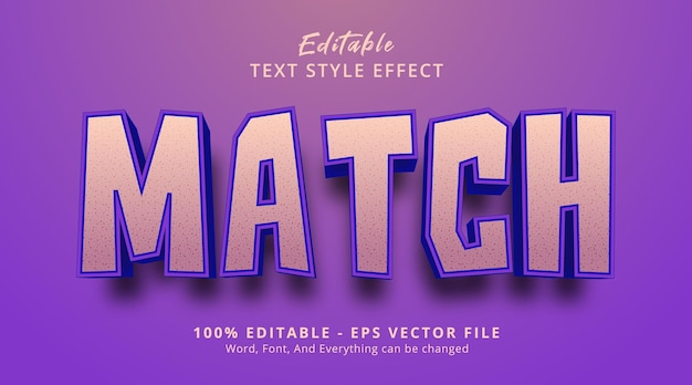 Match text on bold headline style effect, editable text effect