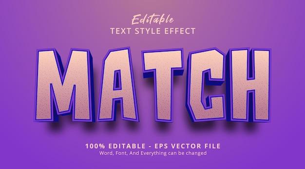 太字の見出しスタイルの効果、編集可能なテキスト効果のテキストを一致させる
