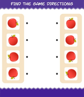 Совместите те же направления яблока. соответствующая игра. развивающая игра для дошкольников и малышей