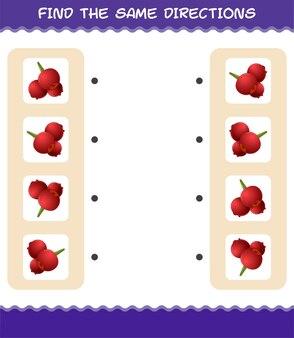 Совместите те же направления клюквы. соответствующая игра. развивающая игра для дошкольников и малышей