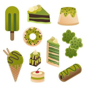 Matcha dessert collection