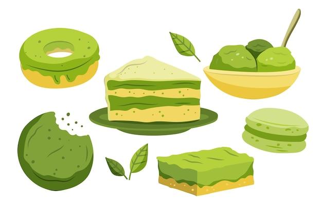 Matcha dessert pack theme