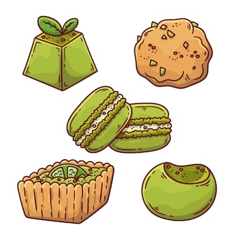 Матча десертный набор