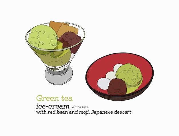 Matcha green tea ice-cream
