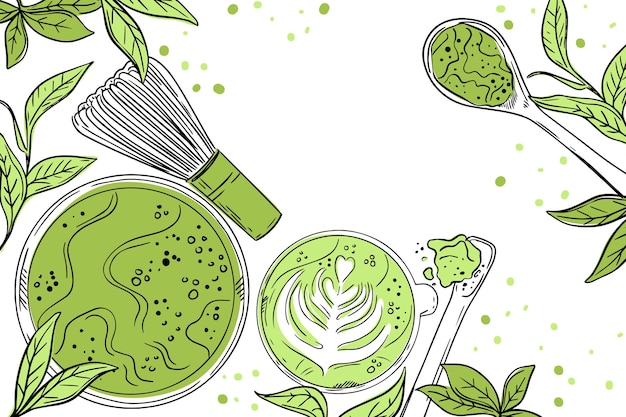 Matcha tea background theme