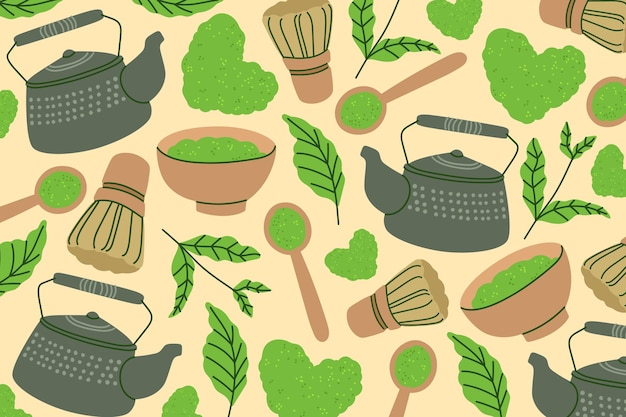 Matcha tea background