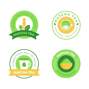 Matcha tea badges