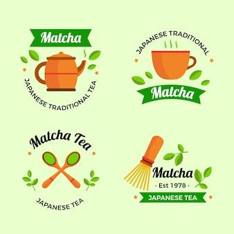Матча чайные значки