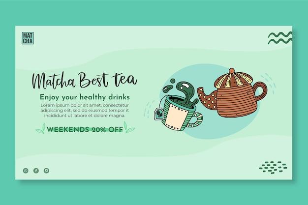 Modello di banner per il tè matcha