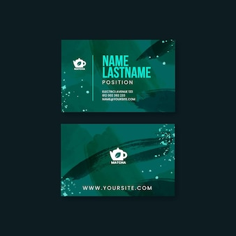Matcha tea business card template