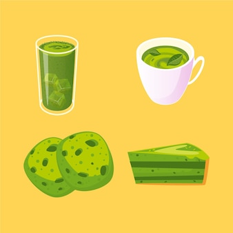 Matcha tea collection theme