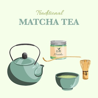 Matcha tea collection