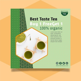 Matcha tea flyer design
