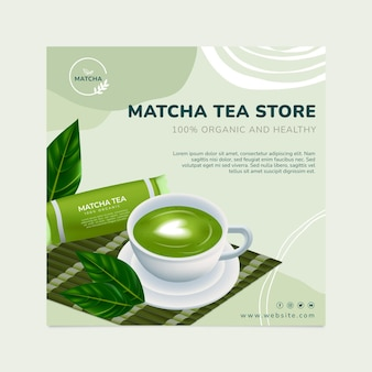 Volantino quadrato per tè matcha