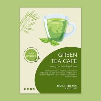 Matcha tea flyer template