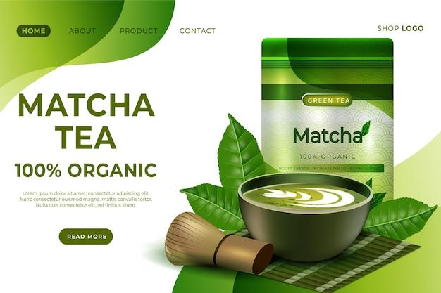 Matcha tea landing page template