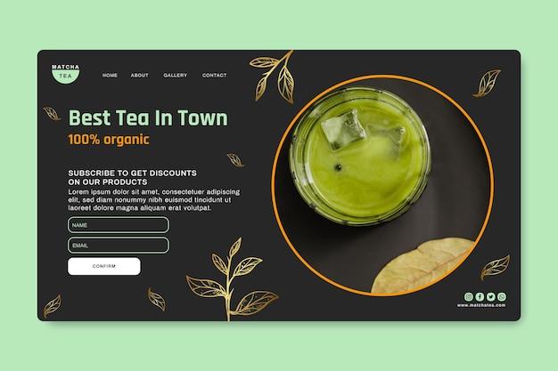 Pagina di destinazione del tè matcha