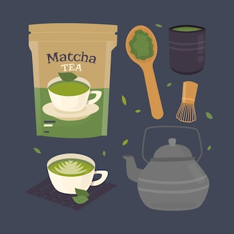 Matcha tea pack