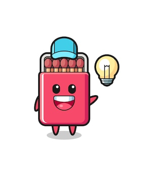 Matches box character cartoon getting the idea , cute design