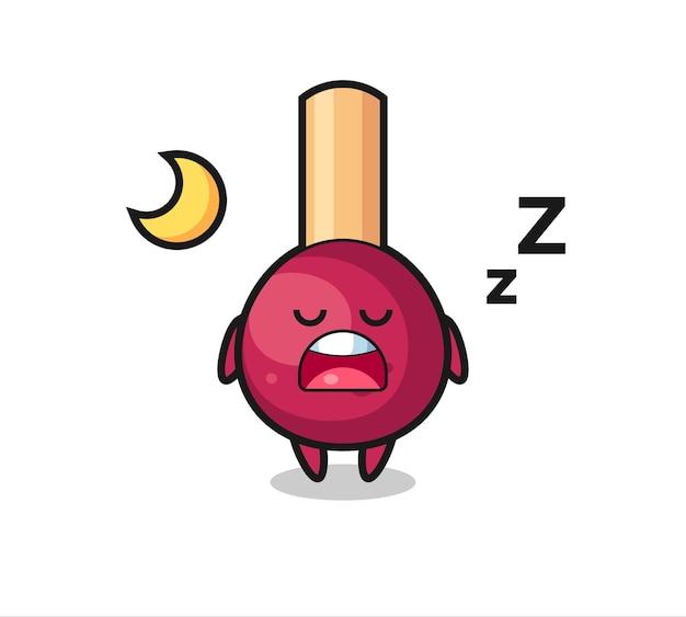 夜寝るキャラクターイラスト、tシャツ、ステッカー、ロゴ要素のキュートなスタイルデザインにマッチ