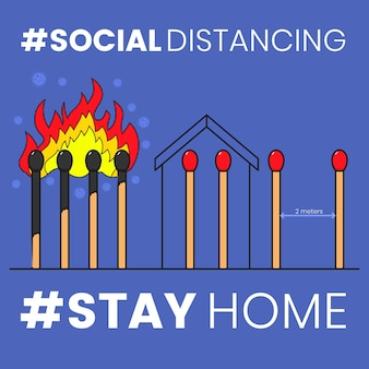 Matches concept for social distancing