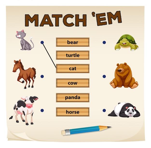 かわいい動物とのマッチングゲーム