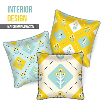 Matching pillows set