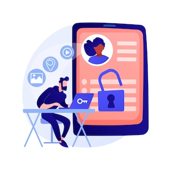Matchmaking website idea. social network, geolocation search. user account. personal profile, internet surfing, online dating service. vector isolated concept metaphor illustration