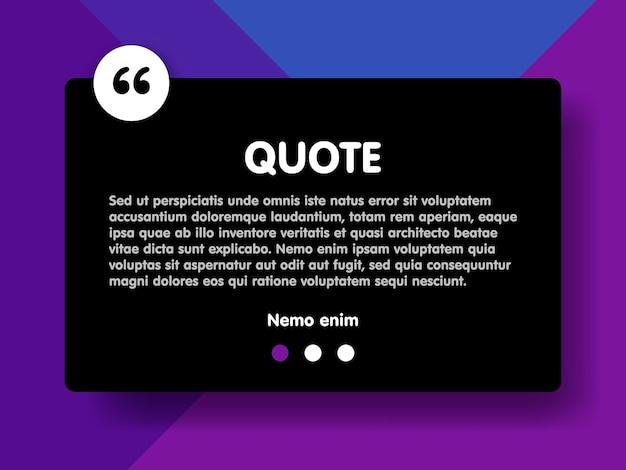 マテリアルデザインスタイル紫の背景とサンプルテキスト情報ベクトルイラストテンプレートと長方形を引用します。
