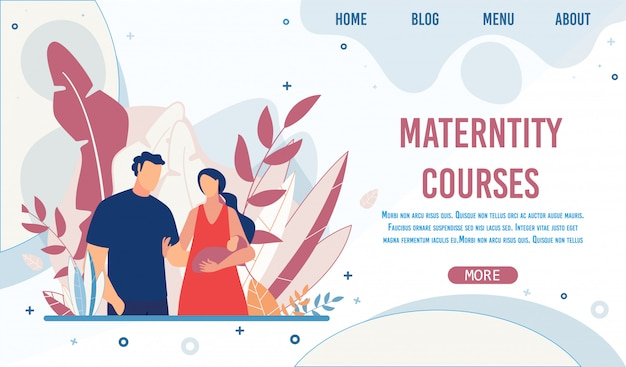 Maternity training courses creative landing page
