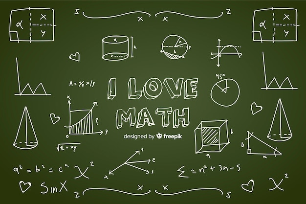 Math chalkboard background