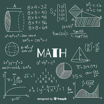 Фон математическая доска Бесплатные векторы
